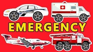 Learn Transport sounds: Emergency FIRE TRUCK - POLICE CAR - AMBULANCE -