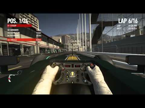 F1 2010 Let's Play Career mode on Expert - Monaco Grand Prix - Monte Carlo (GP5)