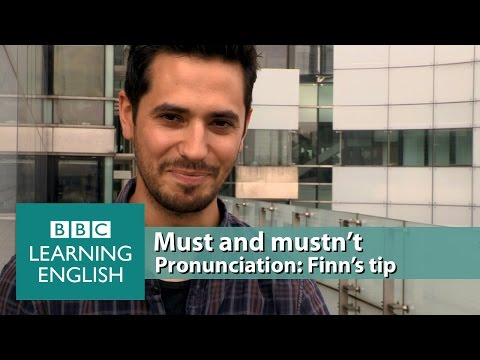 The silent 't' in 'mustn't' and spoken 't' in 'must' - Pronunciation Tips