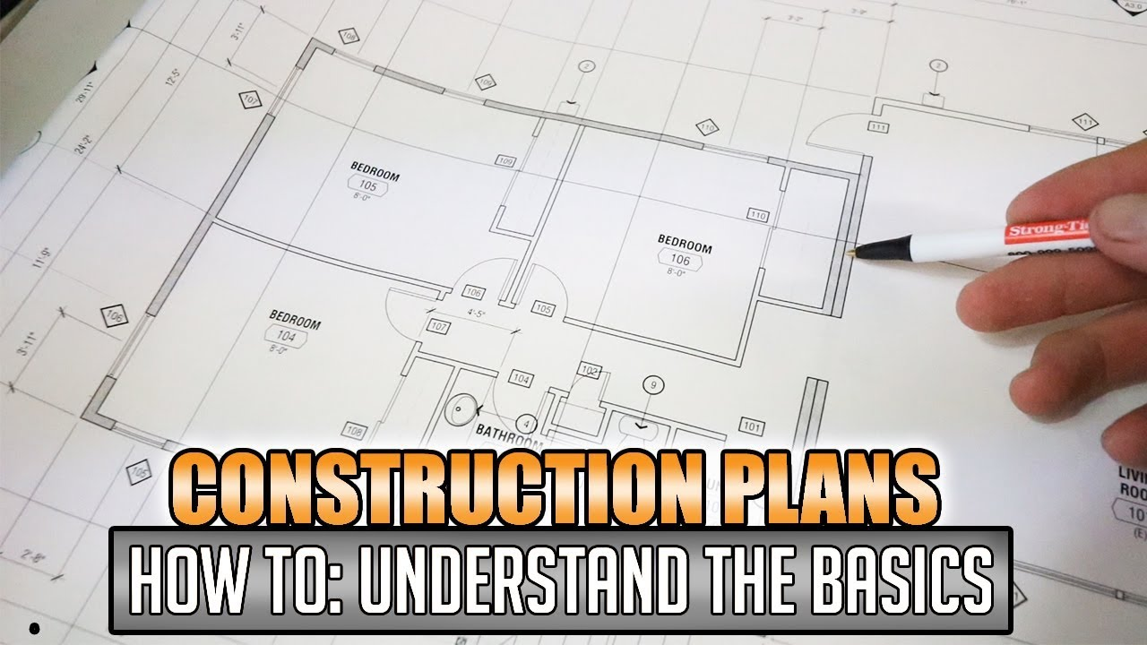 How To Reading Construction Blueprints Plans 1 Youtube