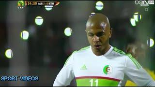 ياسين براهيمي يضيع ركلة جزاء في مباراة الجزائر و إثيوبيا 7-1 || تعليق حفيظ دراجي