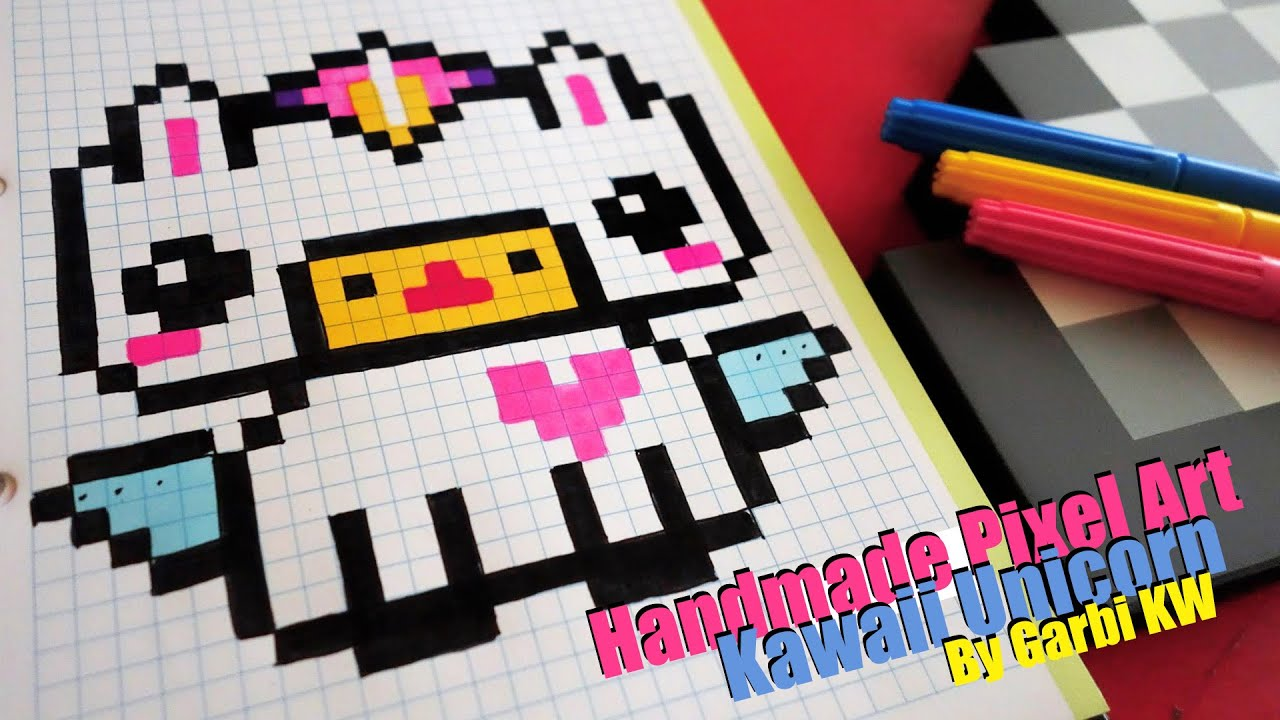 Kawaii Unicorn Pixel Art By Garbi Kw
