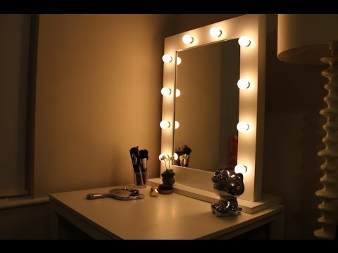 vanity mirror with lights ikea youtube. Black Bedroom Furniture Sets. Home Design Ideas