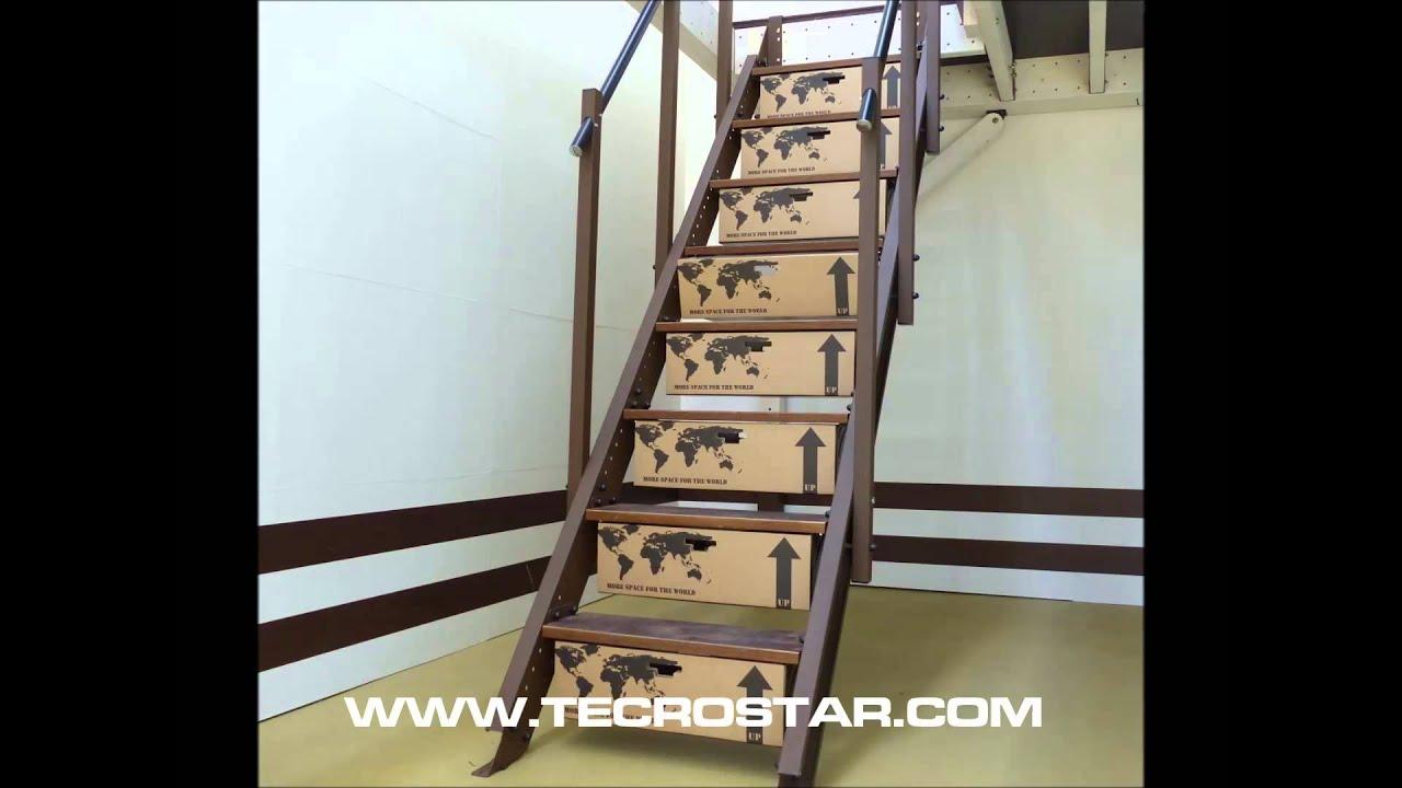 Stair drawer tecrostar mezzanine tecro altillo entreplanta for Escaleras de aluminio usadas