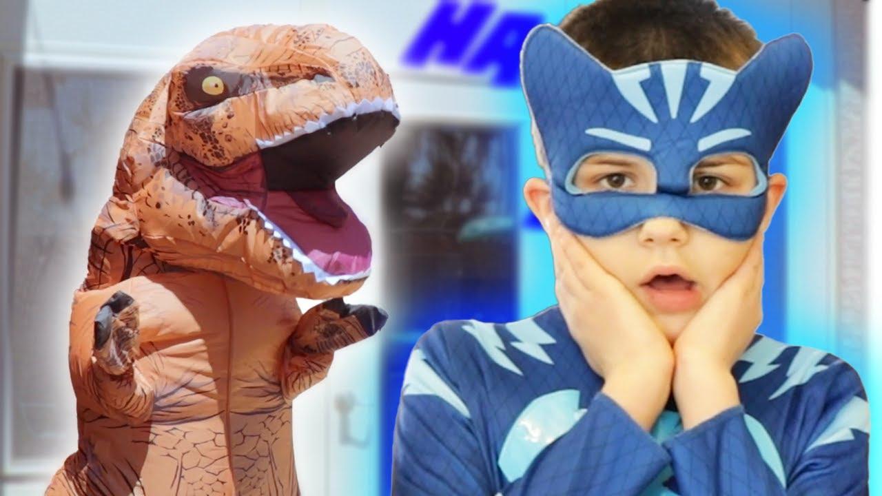 PJ Masks in Real Life ? Dinosaur Pranks, PJ Masks Babies And More ? PJ Masks Official