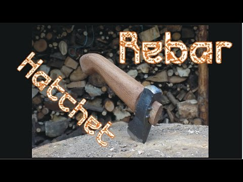 Forging a Primitive Hatchet From a Rebar