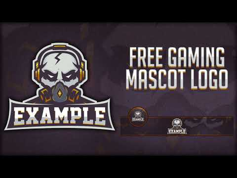 FREE Gaming/Clan E-sport Mascot Logo / Banner / Avatar Template PSD