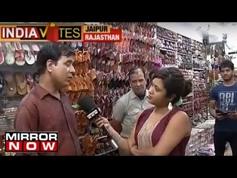 Traders from Nehru Bazar in Jaipur explain business post 'DeMo' & 'GST' | India Votes