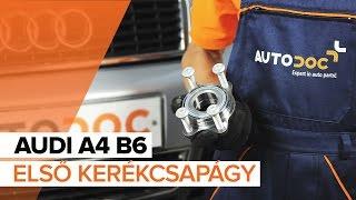 AUDI A4 (8E2, B6) hátsó és első Kerékcsapágy készlet cseréje - videó útmutatók