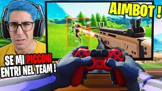 PROVINO a un MAR0CCHlN0 che USA AIMBOT da PS4 su FORTNITE ? (SPIEGATEMI COME FA !)