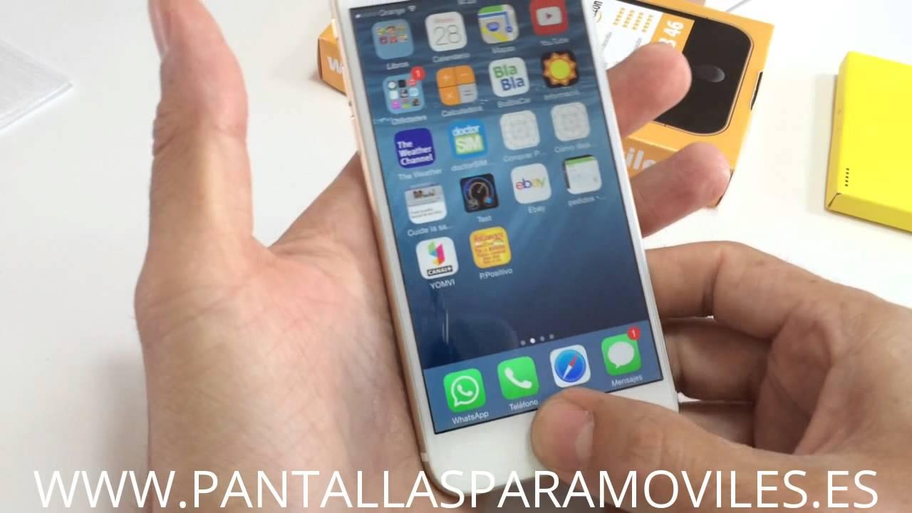 """bc1dc11d240 Como Poner Protector de Pantalla Cristal Templado Para iPhone 6 4.7"""" 2.5D  9H Premium 0.26mm - YouTube"""