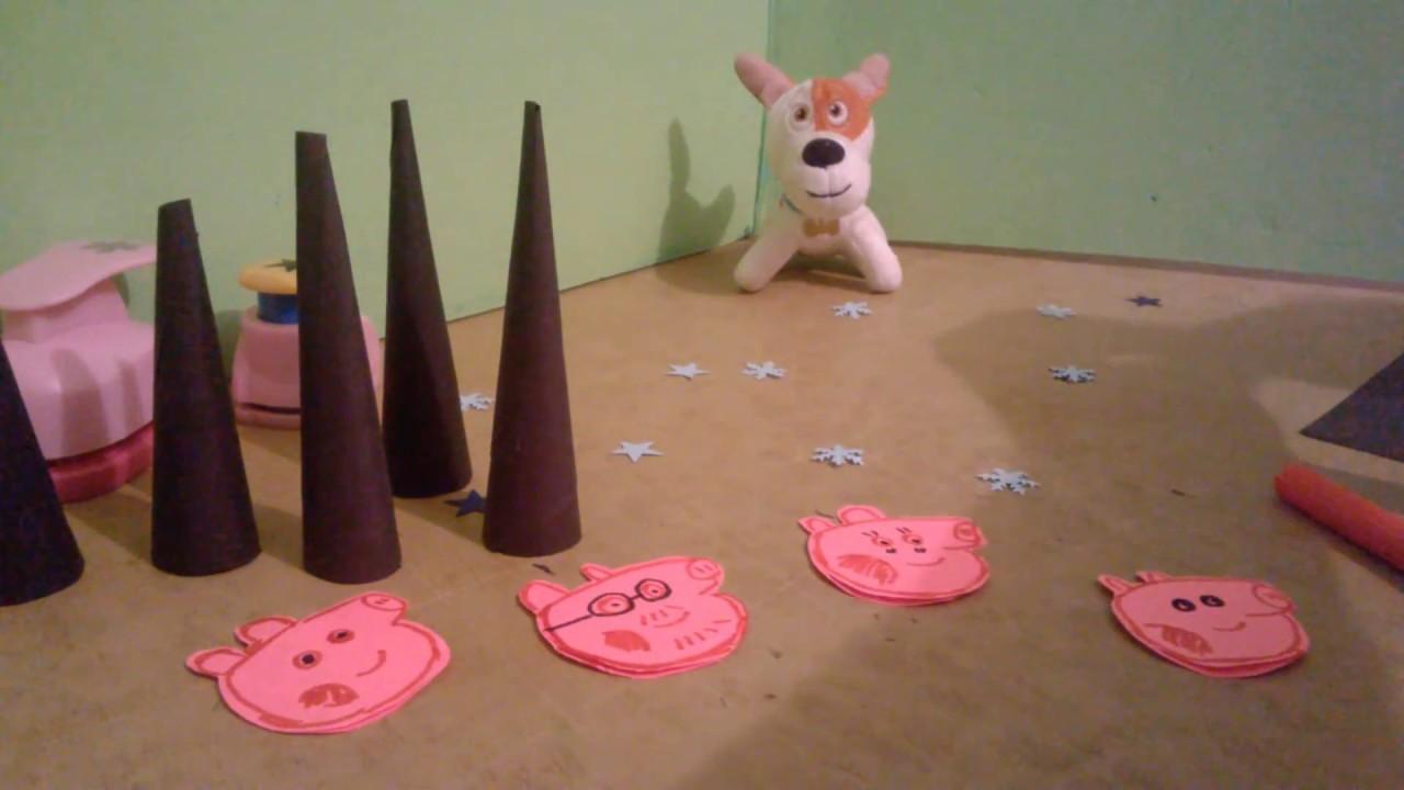Оригами из бумаги свинка пеппа