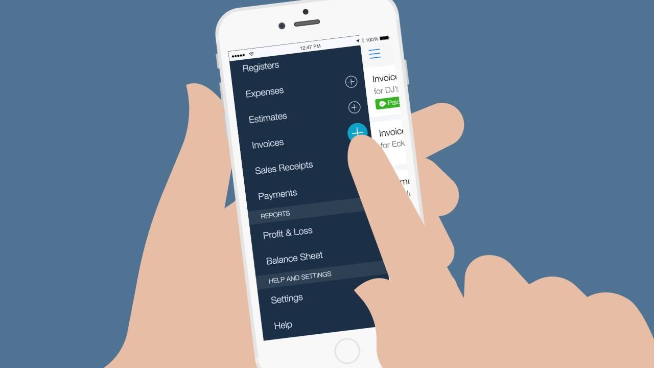 July Create An Invoice With The QuickBooks Online Mobile App - Invoice app that syncs with quickbooks