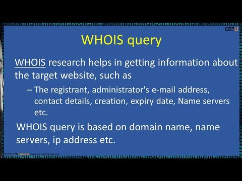 2.6 Whois lookup