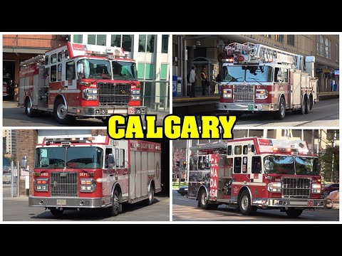[DOWNTOWN CALGARY] - Calgary Fire Department, Police & EMS responding!