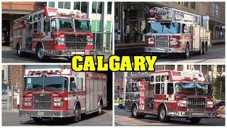 [DOWNTOWN CALGARY] - Calgary Fire Department, Police & EMS responding!