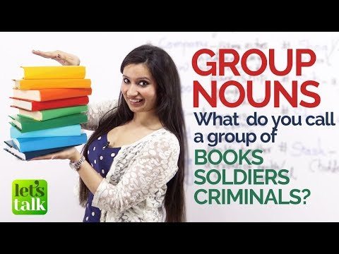 English Grammar lesson - Group Nouns / Collective Nouns - Free English Lessons for Beginners