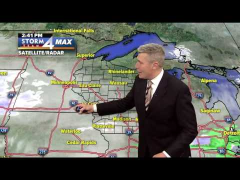 Weather forecast update for the Milwaukee area.