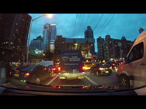 ⁴ᴷ Driving to 42nd Street, Midtown Manhattan, NYC from Astoria, Queens and back