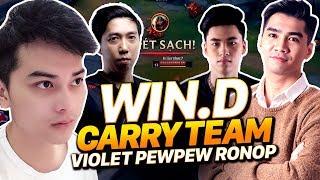 """win.d jinx bắn cả thế giới gánh team """" violet , pewpew , ronop , minas """"   liên minh win.d"""