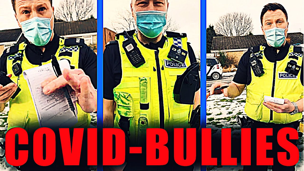 Coward-Cops Attempt Intimidation of Teen Walking Alone, Northumbria Police Use C0VID-19 As Excuse