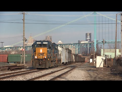 Trains of  Detroit: CSX Switching the Boat Line