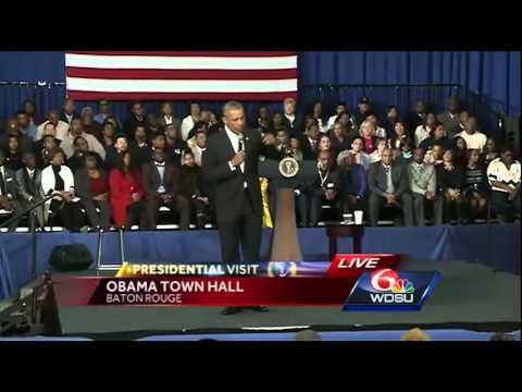 President Obama Baton Rouge town hall (Part 2)