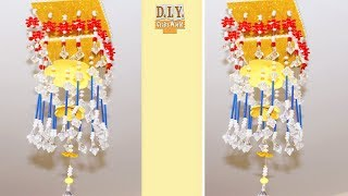 Beaded wind chime   How To Make Jhumar/Chandelier Wind Chimes   Beaded Chandelier   Home Decorating