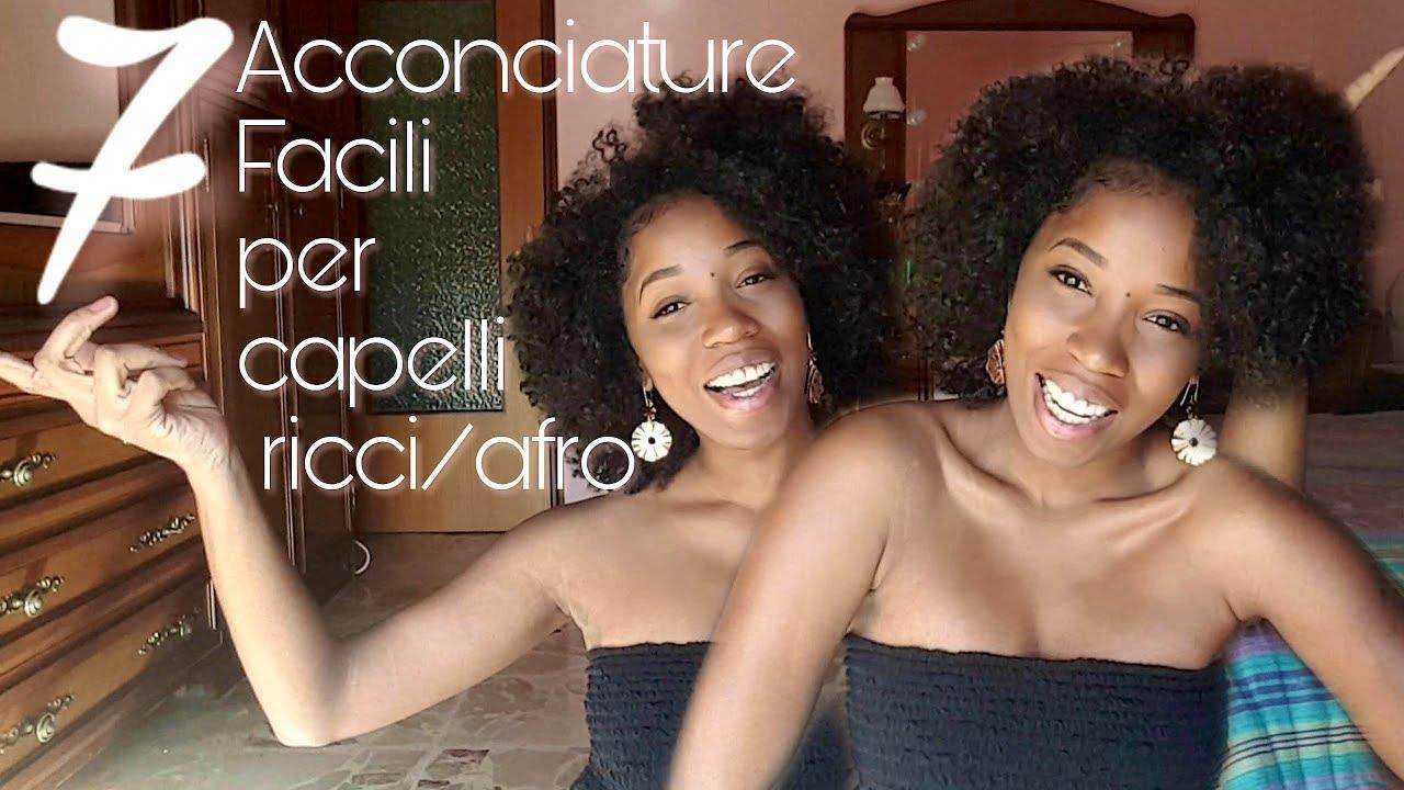 7 Acconciature FACILI per capelli Afro/Ricci - YouTube