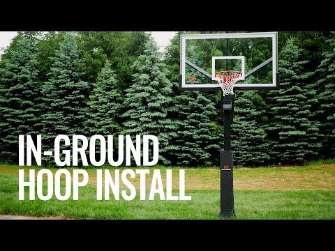 In-Ground Basketball Hoop Installation & Hoop Light!