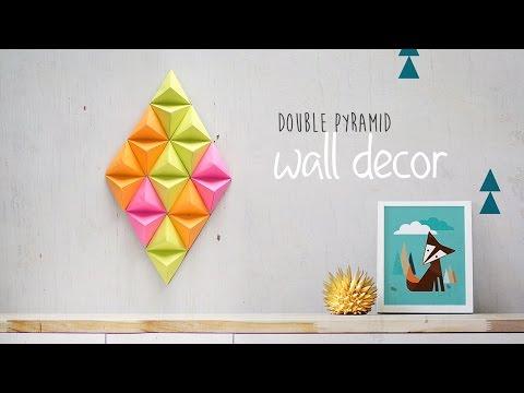 DIY Double Pyramid Wall Decor