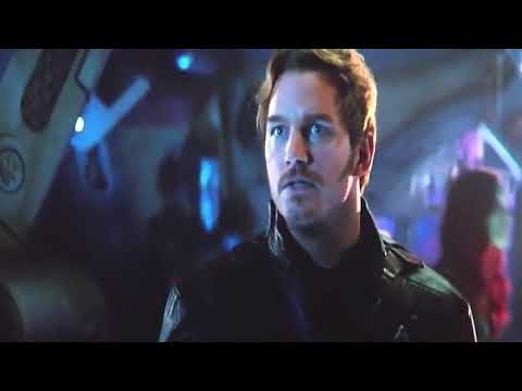 Starlord making funny voice Avengers Infinity War