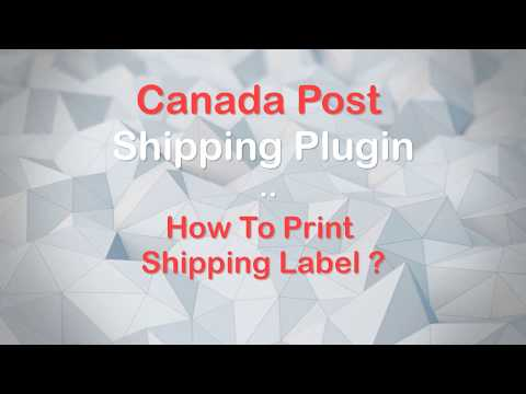 How To Print Canada Post Shipping Label With WooCommerce Canada Post Shipping Plugin..?