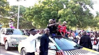 Diamond, Harmonize And Rayvanny Highly Welcomed In Mombasa Ahead Of Wasafi Festival.