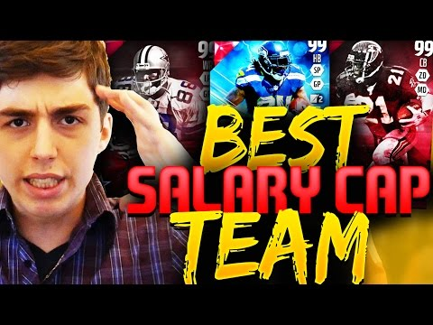 BEST SALARY CAP TEAM EVER! NEW GAME MODE! MADDEN 16 SQUAD BUILDER