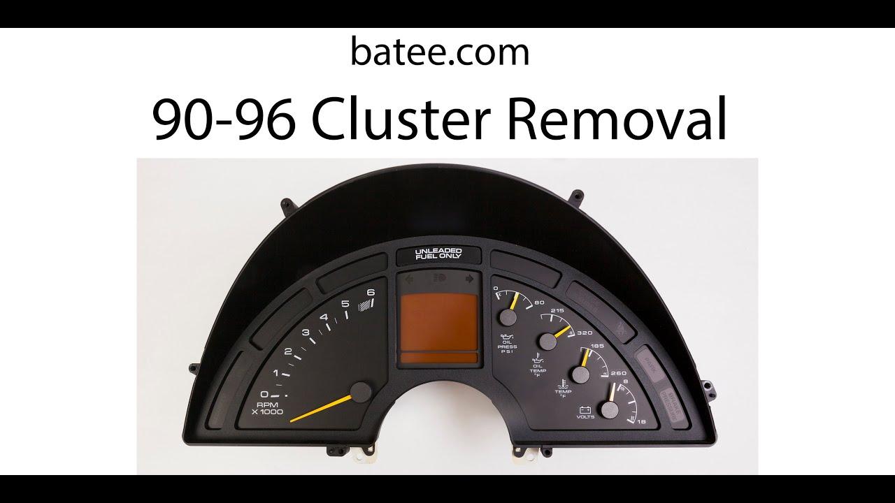 90 96 Corvette 0 Instrument Panel Removal Batee Com 2019 Youtube
