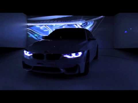 BMW M4 Concept Iconic Lights at 2015 CES