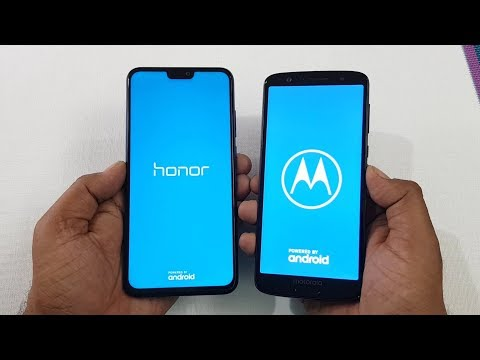 Honor 8X vs Moto G6 Speed Test Camera Compare