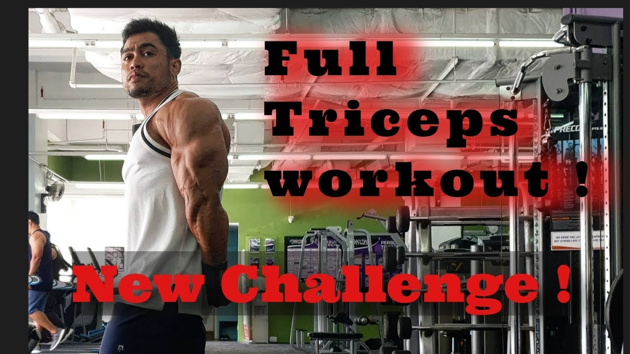 FULL TRICEPS WORKOUT ! | NEW CHALLENGE | VLOG 19