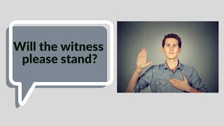 Will the witness please stand