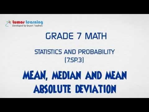 grade 7 math mean median and mean absolute deviation youtube