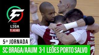 Liga Placard: Sc Braga/Aaum 3 - 1 Leões Porto Salvo