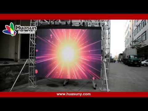 Mobile Flexible Soft LED Curtain Display for Semi outdoor -Skype: huasun618-