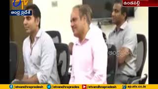 Sony Pictures Entertainment Director Vivek Krishnani meets CM at Undavalli