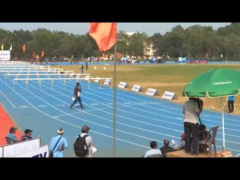 78th all India inter university Athletic meet 2017- 18 at Guntur. 110m hurdles finals mens