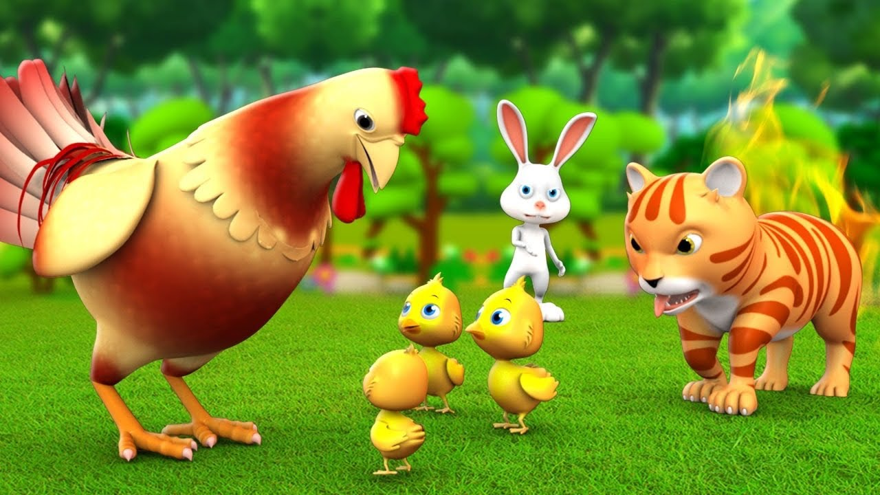 मुर्गी की होशियारी चालाक बिल्ली - Clever Hen & Cunning Cat 3D Animated Hindi Moral Stories | JOJOTV