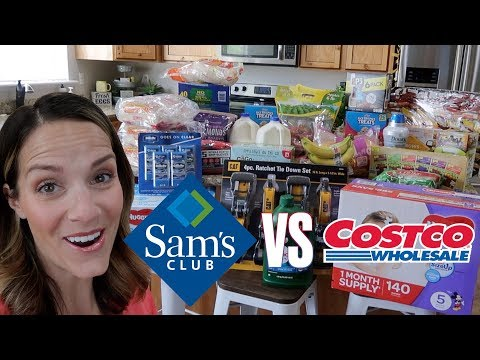 HUGE SAM'S CLUB HAUL | SHOPPING AT SAM'S CLUB VERSUS COSTCO | BIG FAMILY GROCERY HAUL