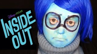 INSIDE OUT SADNESS MAKEUP TUTORIAL! (Disney
