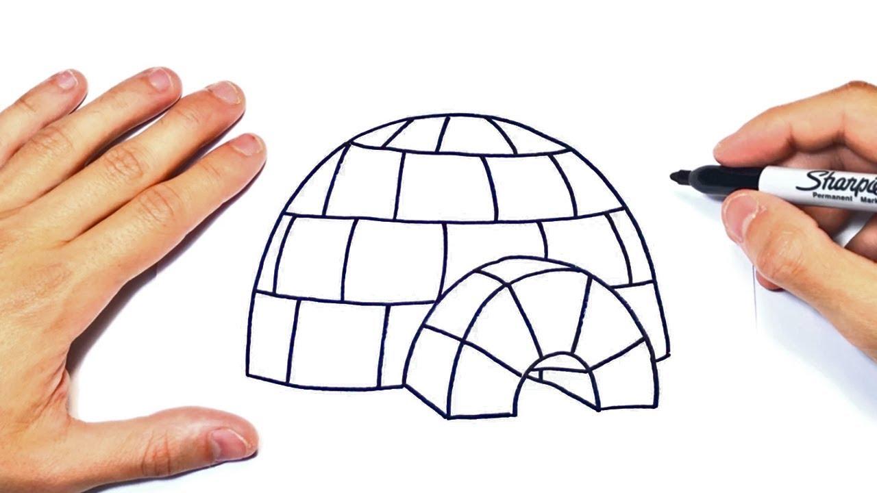 Cómo Dibujar Un Iglu Paso A Paso Dibujo De Iglú Esquimal O Casa De Hielo