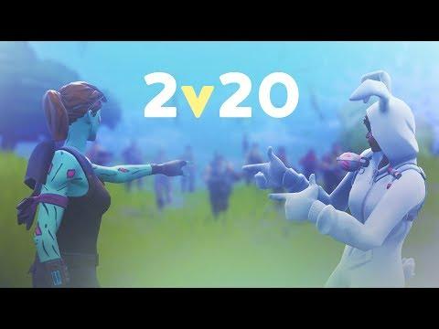 2v20 MADNESS - ft. SypherPK   50vs50 MODE (Fortnite Battle Royale)